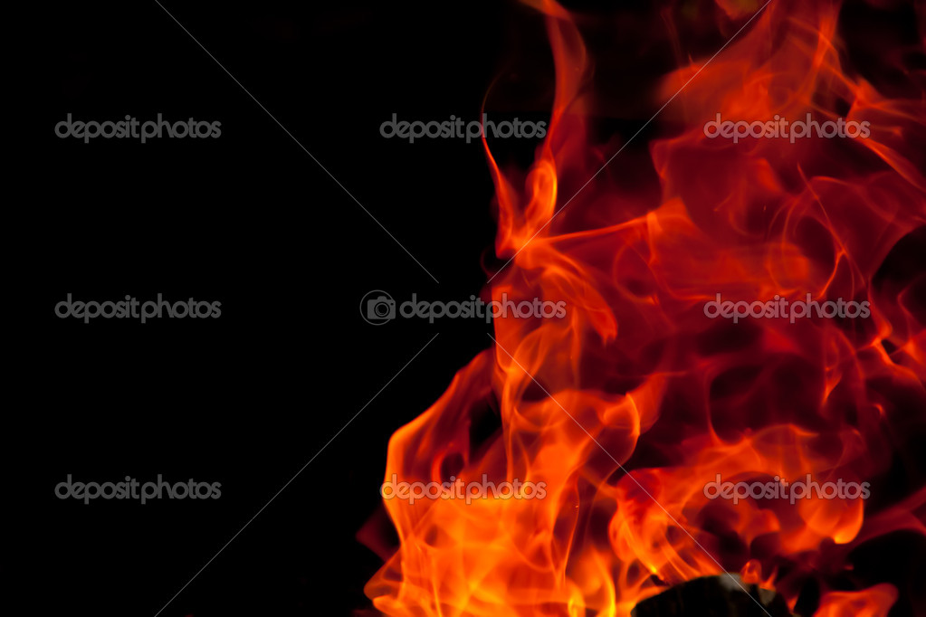 Flames against a black background — Stock Photo #11902681