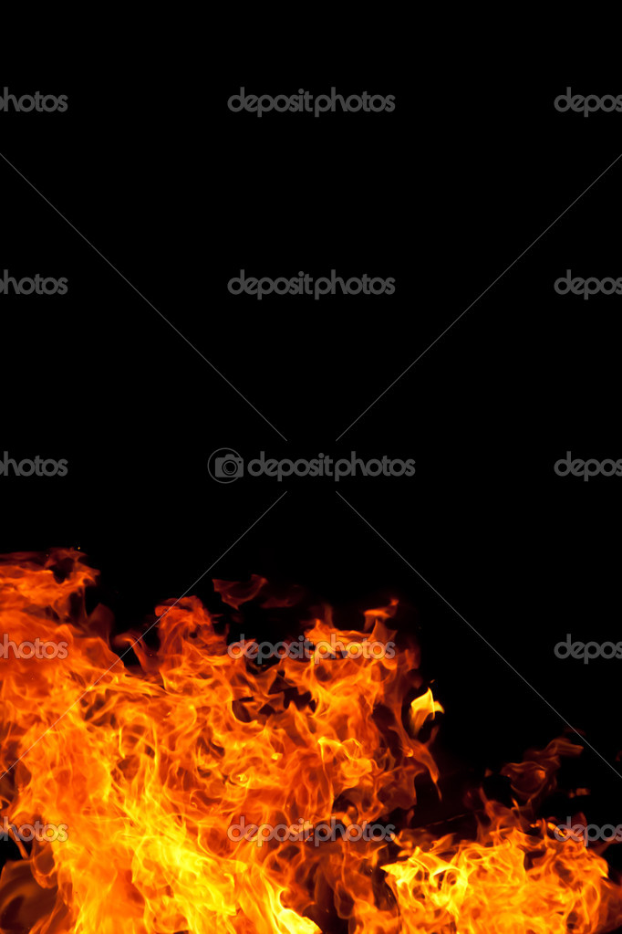 A fire against a black backgound — Stock Photo #11902713
