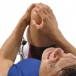 Knee injury — Stock Photo