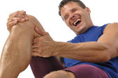 Knee and hamstring injury — Stock Photo
