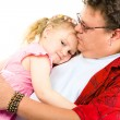 Little girl in her father's arms — Stock Photo