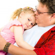 Stock Photo: Little girl in her father's arms