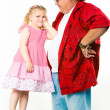 Stock Photo: Girl with her daddy
