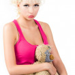 Girl with teddy bear — Stock Photo #11024151