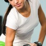 Pumping biceps — Stock Photo