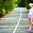 Roller skater girl — Stock Photo