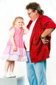 Girl with her daddy — Stock Photo