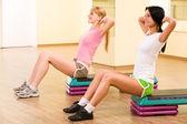 Doing exercise — Stock Photo
