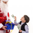 Paying to Santa — Stock Photo
