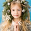 Christmas girl - Stockfoto