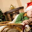 Dream on Christmas night - Stock Photo
