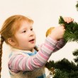 Decorating fir tree — Stock Photo