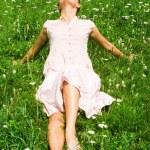 Lying on grass — Stock Photo #11107469
