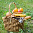 Stock Photo: Basket with goods