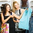 Girls shopping — Stock Photo