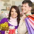 Shopping couple — Stock Photo