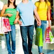 Stock Photo: Shopaholics