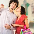 Couple in the mall — Stock Photo