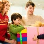 Sharing presents — Stock Photo