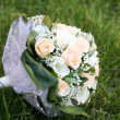 Bouquet on the grass — Stock Photo