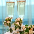 Royalty-Free Stock Photo: Champagne flutes