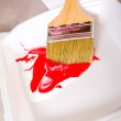 Brush with paint — Stock Photo