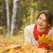 In autumn forest - Stock Photo