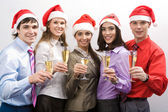 Business Santas — Stock Photo