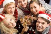 Partij met vrienden — Stockfoto