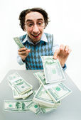 Counting money — Stock Photo