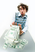 Too much money — Stock Photo