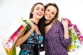 Flickor med presenter — Stockfoto