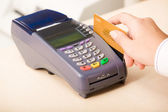 Paying by credit card — Stock Photo