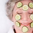 Cucumber mask — Stock Photo #11121348
