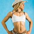 Pretty cowgirl — Stock Photo #11121426