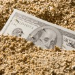 Stock Photo: Money flow as sand