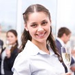 Girl with champagne — Stock Photo #11122293