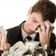 Stock Photo: Money has simply vanished