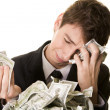 The money has simply vanished - Stock Photo
