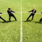 Corporate rivalry — Stock Photo