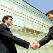 Stock Photo: Handshake of partners