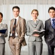 Row of professionals — Stock Photo