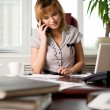 Telephone conversation - Stock Photo