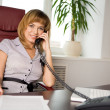 Beautiful clerk — Stock Photo