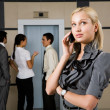 Telephone conversation — Stock Photo