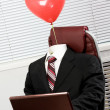 Suit with balloon — Stock Photo