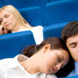 Stock Photo: Sleep during conference