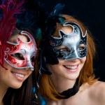Looking through masks — Stock Photo