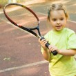 Stock Photo: Girl with racket
