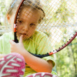 Little tennis player — Stock Photo